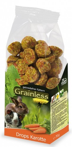 JR Farm Grainless Drops Karotte mit Verpackung
