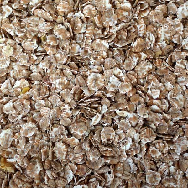 Weizenflocken ohne Verpackung