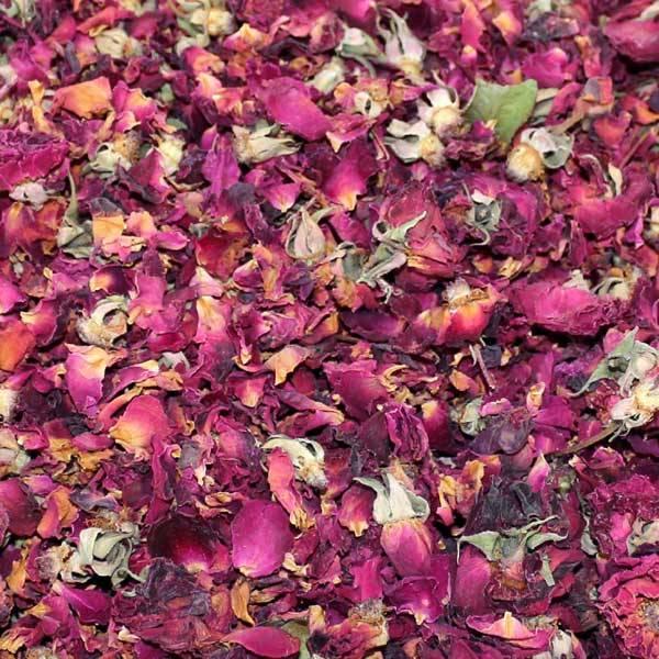 Rosenblütenknospen ohne Verpackung
