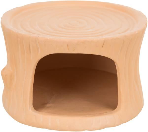 Keramikhaus Baumstamm klein