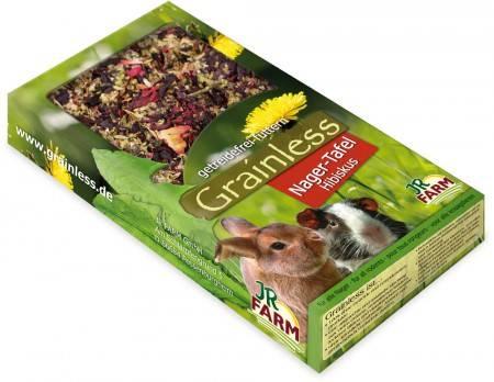 JR Farm Grainless Nager-Tafel Hibiskus mit Verpackung